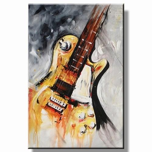 Gitaar schilderij | Muziek olieverfschilderij