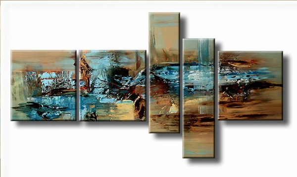 abstract kunst schilderij | By the lake