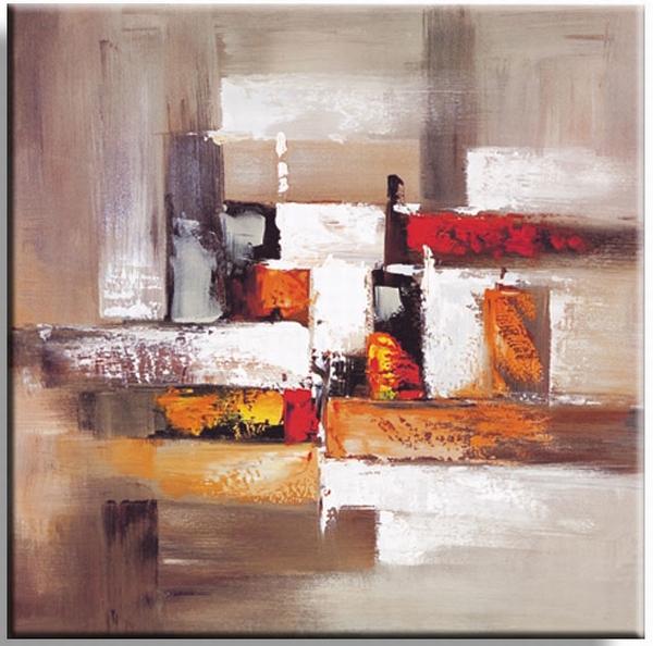 Aardetinten abstract stilleven schilderij fantasie for Moderne schilderijen