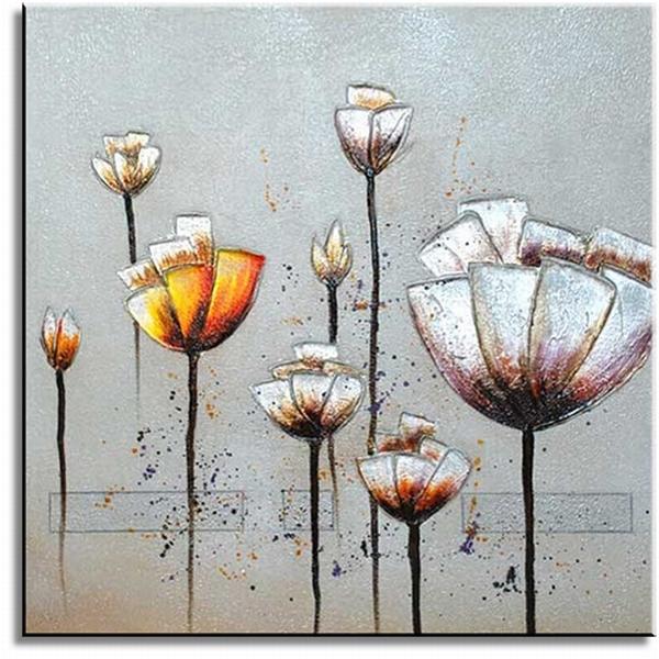 Moderne bloemen schilderijen art schilderij flowerzzz for Moderne schilderijen