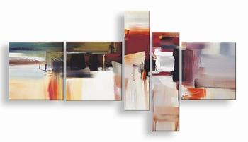 abstract art schilderij-aardetinten