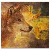 Schilderij van een wolf   wolven schilderij   wolf beauty
