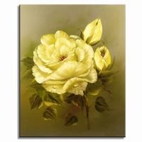 """Roos schilderij """" Gele schoonheid"""""""