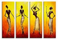 African dancers | figuratief schilderij