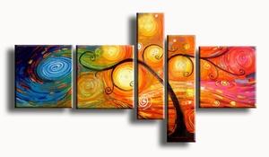 Abstracte kleurrijk kunst schilderij The Day II