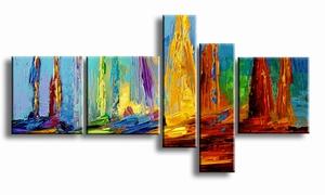 abstract olieverf schilderij sail