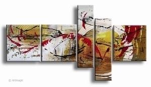 abstracte kunst schilderij   Bruin Rood Fantasie