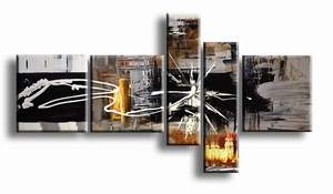 abstract warm grijs bruin schilderij | Witte Ster