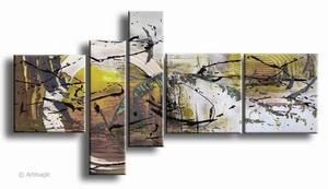 Gele horizon   abstract schilderij