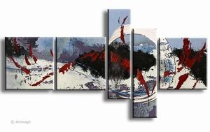 Winter - abstract winterlandschap schilderij