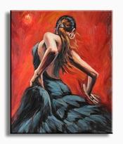 Danseressen schilderij danseres in rood zwart