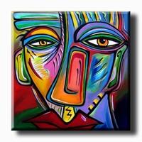 Figuratief kunst schilderij The Face