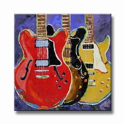 Electrische gitaren schilderij Music lovers