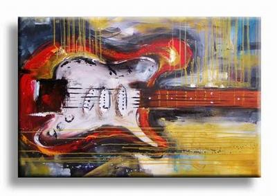 Gitaren schilderijen | elektrische gitaar abstract