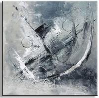 Exclusief abstract schilderij met structuur en circels