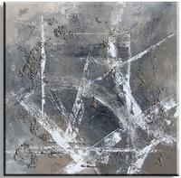 Exclusief abstract schilderij met dikke structuur