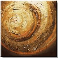 Exclusief schilderij met dikke verf en relief bruin