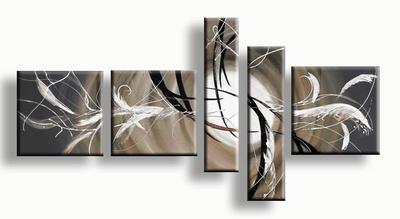 Aardetint schilderij - Dreams in taupe grijs - aardetinten