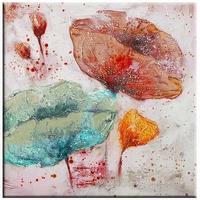 Rustig bloemen schilderij met trendy kleuren