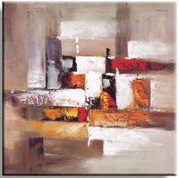 Aardetinten abstract stilleven schilderij fantasie