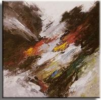 Seasons abstract schilderij in aardetint en kleur