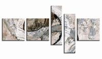 Modern schilderij aardetinten | Abstracte Steen