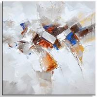 Abstracte moderne schilderijen aardetint beauty II