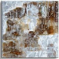 Modern abstract schilderij bruin 'n grijs Artistico