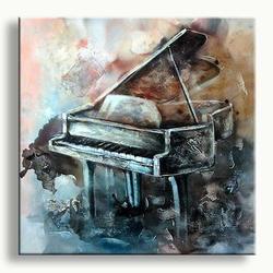 Modern art painting Piano Musica