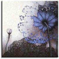 Modern bloemenschilderij purple flower