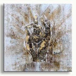 Modern buddha painting schilderij boeddha hand