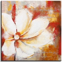Moderne schilderijen met bloemen happy flower