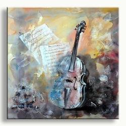 Modern schilderij met muziekinstrument c majeur