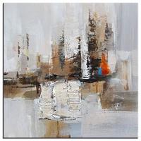 Abstract schilderij aardetinten distance bruin