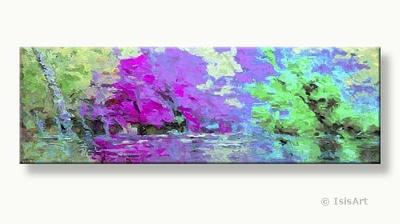 boom schilderijen schilderij met gekleurde bladeren