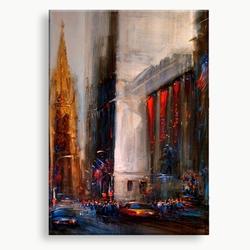 abstract kunst schilderij rood bruin blauw ivoor