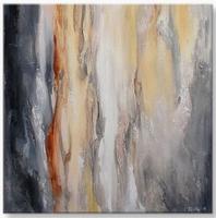 . abstract schilderij vierkant bruin kleuren tinten