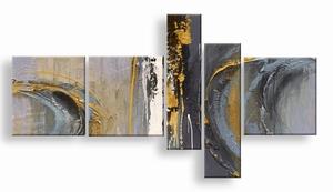 abstract art schilderij met oker geel