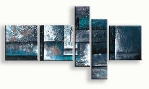 blauw aqua modern schilderij