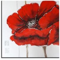 rode bloem abstract