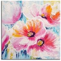 mooi abstract bloemen schilderij